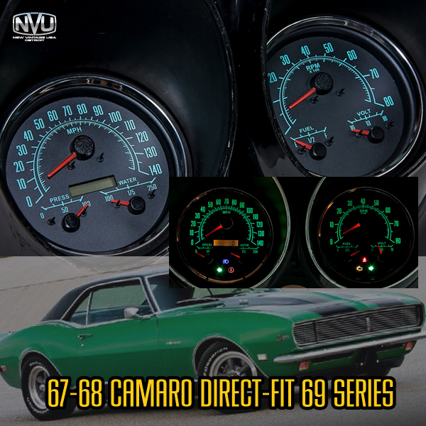 67 68 cmaro custom gauges dash cluster
